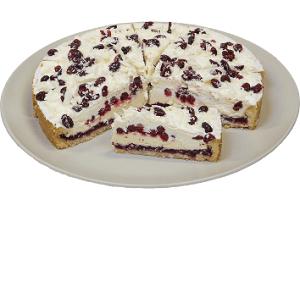 Торт песочный «Брусничный с кремом» 1,4 кг