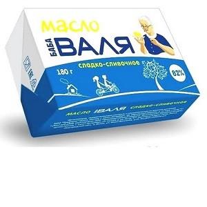 "Масло сливочное ""Баба Валя"" 82,5% жирности 0,2 кг/24 шт"