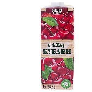 Нектар вишня-яблоко Сады Кубани 1л/12 (с крышкой)