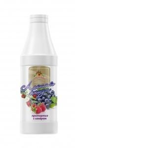 Лесная ягода протертая с сахаром 1000 г*6, бутылка ПЭТ