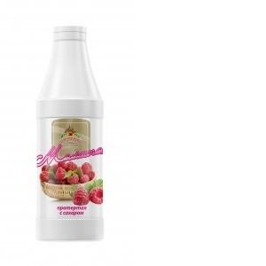 Малина протертая с сахаром 1000 г*6, бутылка ПЭТ