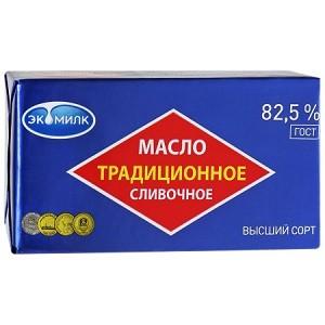 Масло сливочное традиционное 82,5% жирности 0,2 кг
