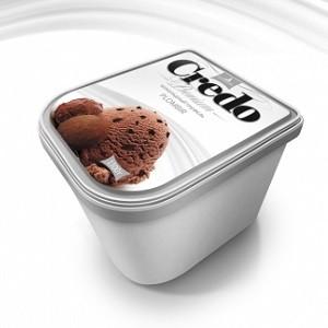 "Контейнер 1300/2 ""Credo"" пломбир ""Шоколадный трюфель"""