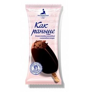 """Эскимо 80/30 """"Как раньше"""" пломбир шоколадный в шок. гл."""