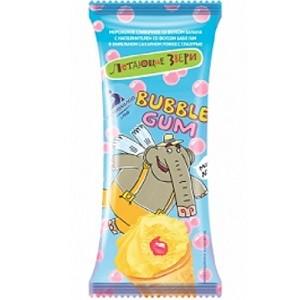 """Рожок 70/40 """"BUBBLE&GUM"""" сливочный со вкусом банана с наполнителем со вкусом бабл гам"""